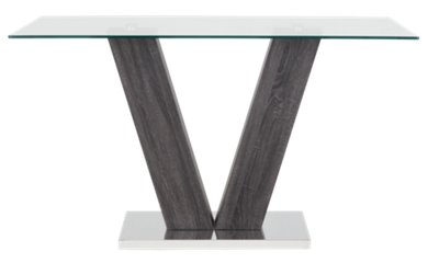 City Furniture Kendall Glass High Table 4 Upholstered Barstools