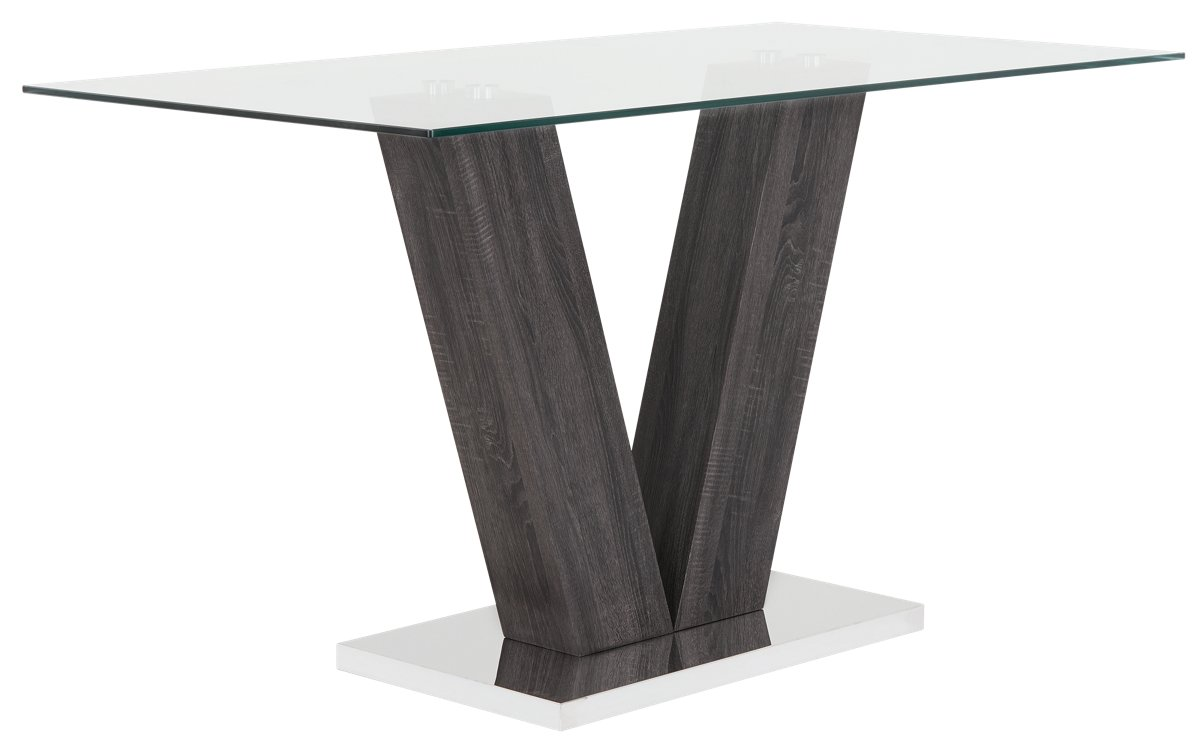 city furniture kendall glass high dining table