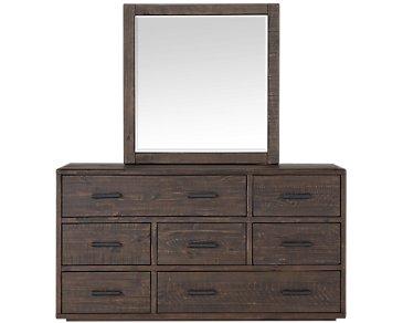Mckinney Mid Tone Dresser & Mirror