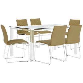Skyline Light Green Rectangular Table & 4 Metal Chairs