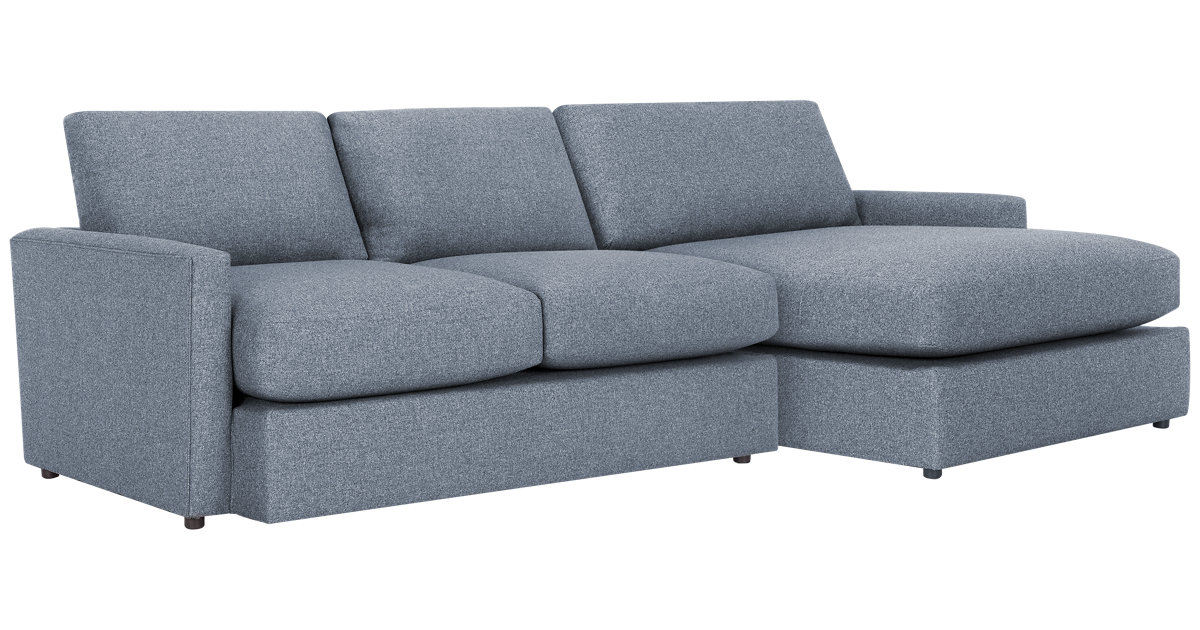 City Furniture Noah Dark Gray Fabric Small Right Chaise Sectional