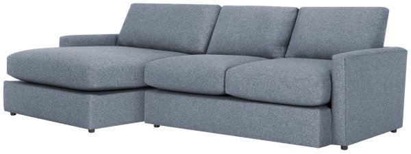 Estelle Dark Gray Fabric Left Chaise Sectional