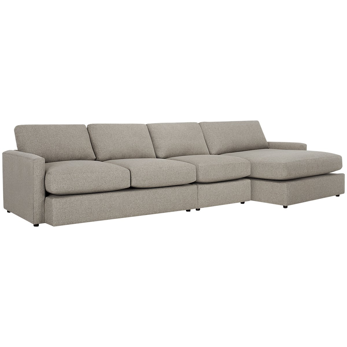 City furniture noah khaki fabric small right chaise sectional for Chaise kaki