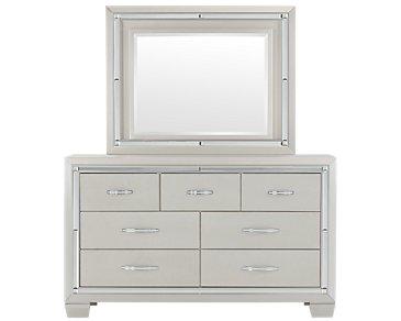 Platinum Silver Dresser & Mirror