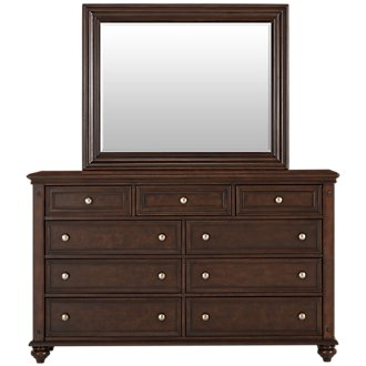 Savannah Dark Tone Dresser & Mirror