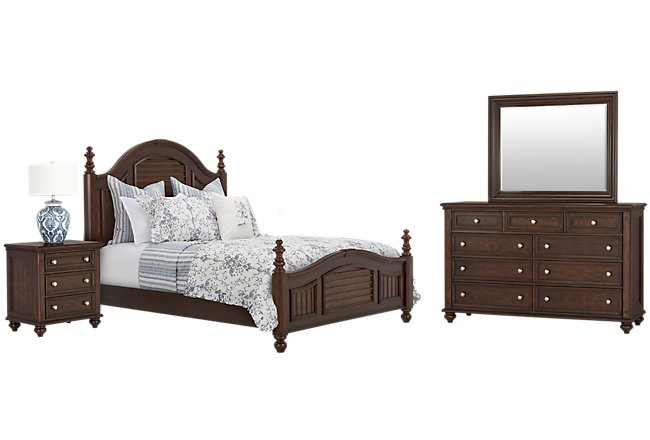 Savannah Dark Tone Wood Poster Bedroom