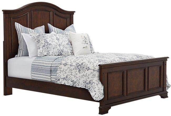 Savannah Dark Tone Wood Panel Bed
