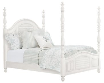Savannah Ivory Poster Bed