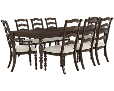 Savannah Dark Tone Rectangular Table & 4 Chairs