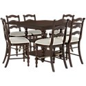 Savannah Dark Tone High Table & 4 Barstools