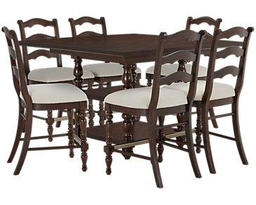 Savannah Dark Tone High Table & 4 Barstools