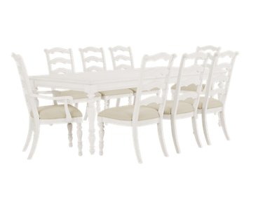 Savannah Ivory Rectangular Table & 4 Chairs