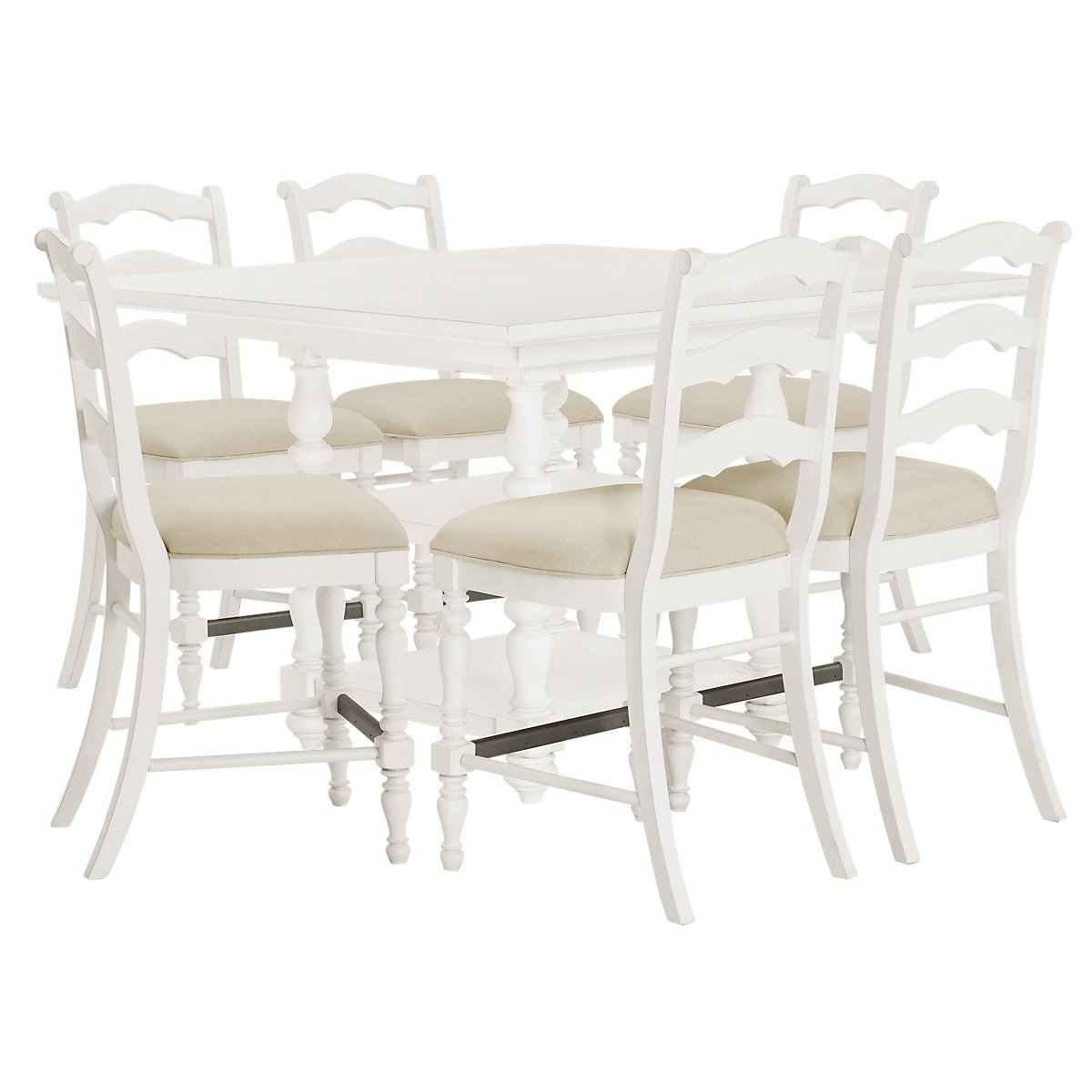 Savannah Ivory High Table & 4 Barstools