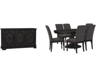 Corinne Dark Tone Round Dining Room