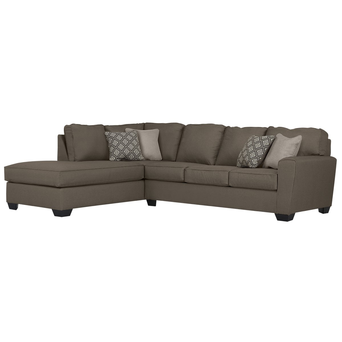 calicho dark taupe microfiber left chaise sectional. Black Bedroom Furniture Sets. Home Design Ideas