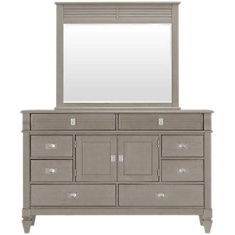 Marina Gray Dresser & Mirror