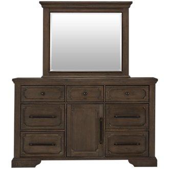 Arlington Mid Tone Dresser & Mirror