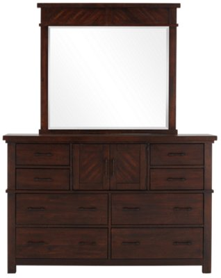 Jax Dark Tone Dresser & Mirror