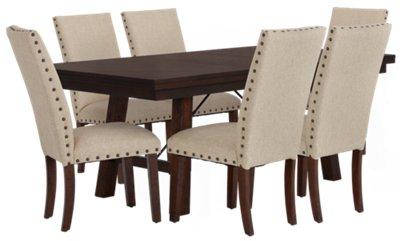 Jax Beige Rectangular Table u0026 4 Upholstered