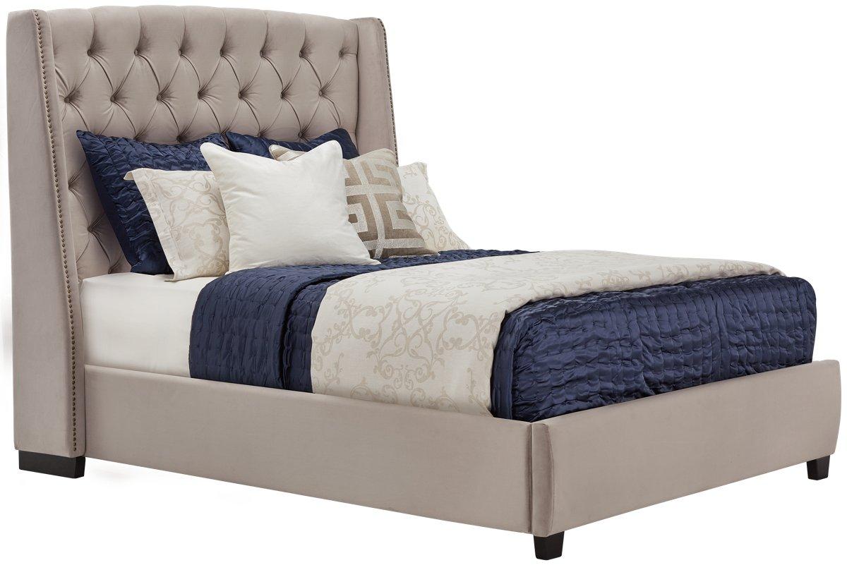 city furniture raven gray upholstered platform bed