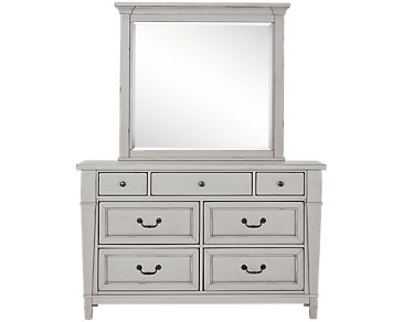 Stoney Gray Dresser & Mirror