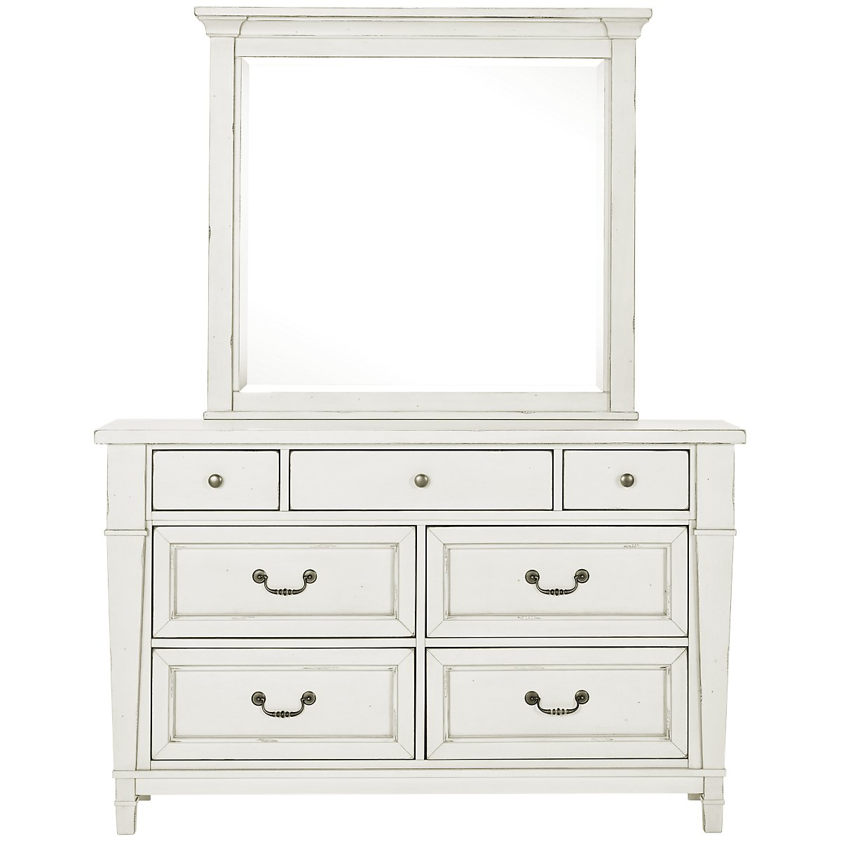 City Furniture Stoney White Dresser Mirror