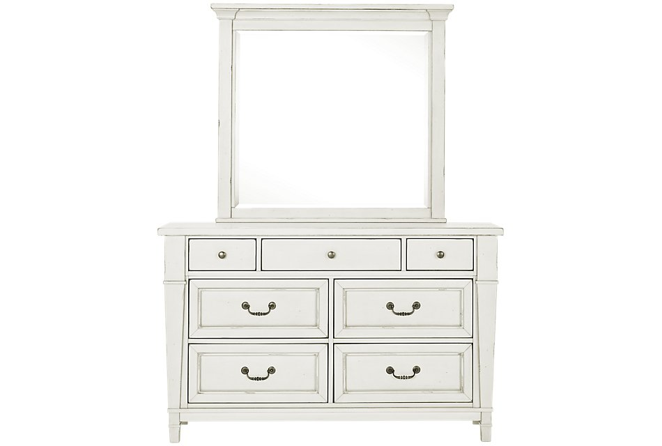 Stoney White  Dresser & Mirror