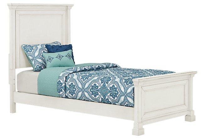 Stoney White Panel Bed
