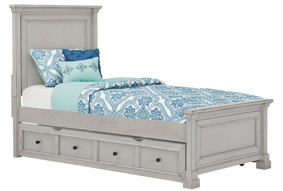 Stoney Gray Panel Storage Bed