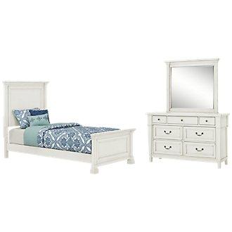 Stoney White Panel Bedroom