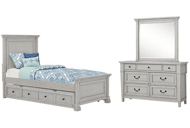 Stoney Gray Panel Storage Bedroom