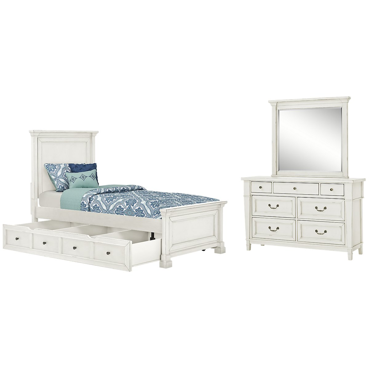 Stoney White Panel Storage Bedroom