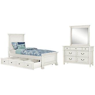 Stoney White Panel Storage Bedroom