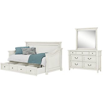 Stoney White Daybed Storage Bedroom