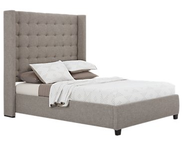 Chatham Pewter High Platform Bed