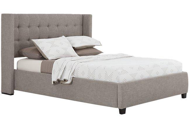 Chatham Pewter Fabric Platform Bed
