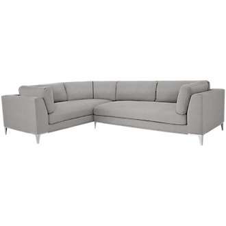 Madison Gray Fabric Two-Arm Sectional