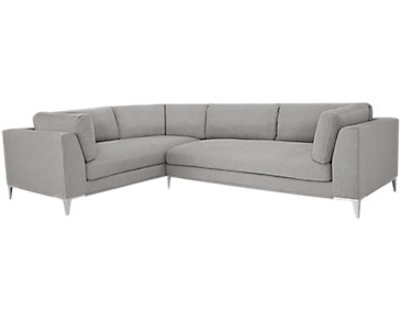 Madison Gray Fabric 2-Arm Right Facing Sectional