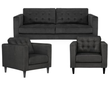 Shae Dark Gray Microfiber Living Room
