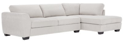 Image Of Perry Light Gray Microfiber Right Chaise Sectional With Sku:9711139
