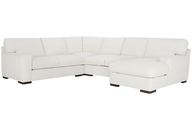Veronica White Down Medium Right Chaise Sectional