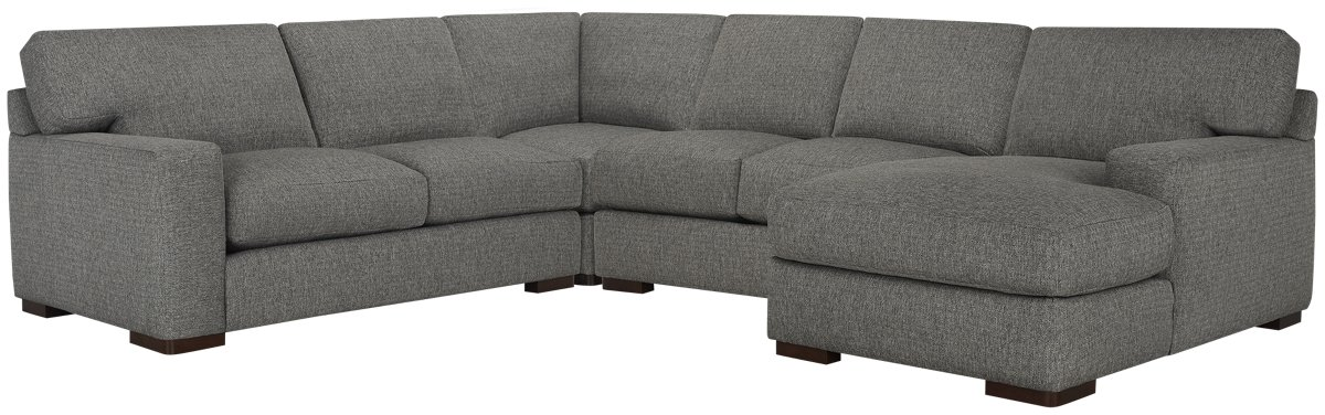 Veronica Gray Down Medium Right Chaise Sectional