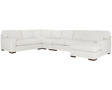 Veronica White Down Large Right Chaise Sectional