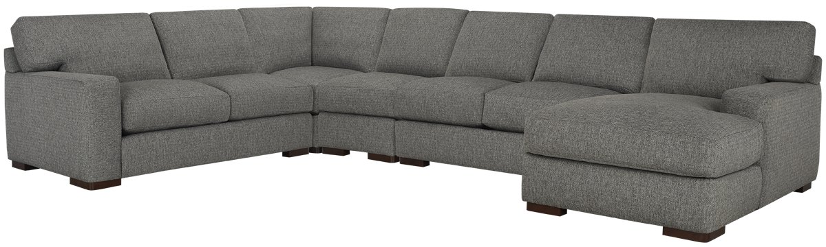 Veronica Gray Down Large Right Chaise Sectional