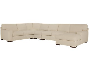 Veronica Khaki Down Large Right Chaise Sectional