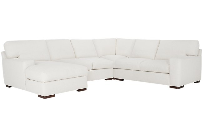 Veronica White Down Medium Left Chaise Sectional
