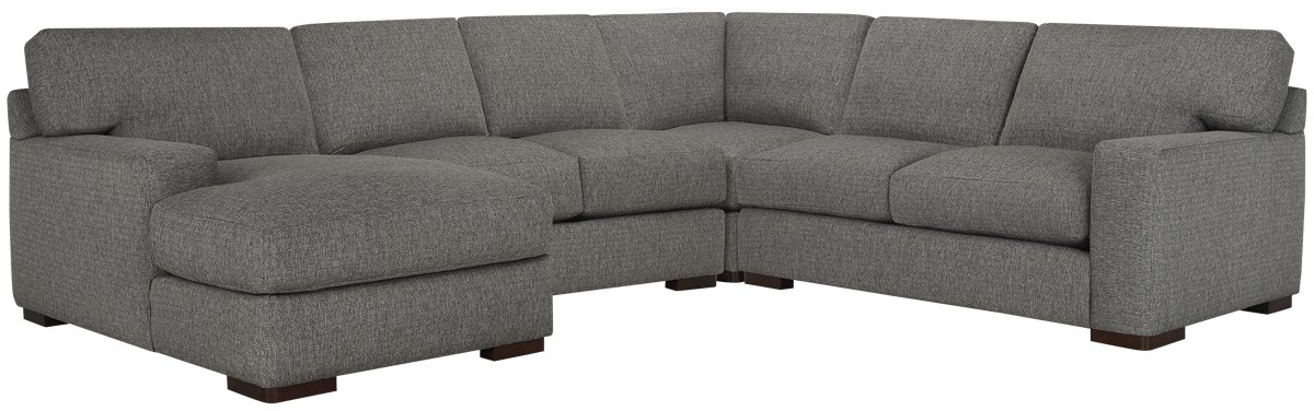 Veronica Gray Down Medium Left Chaise Sectional