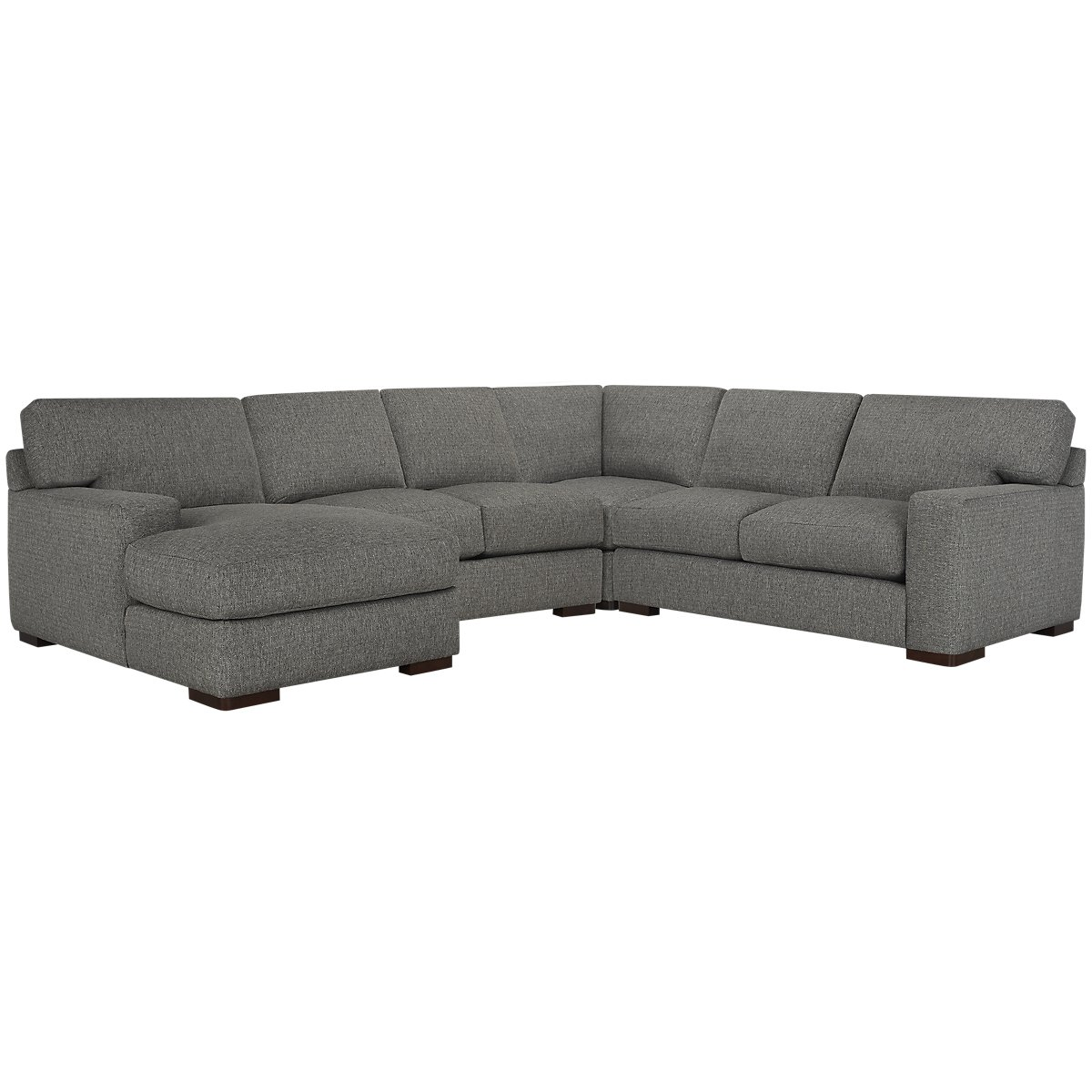 Veronica Gray Fabric Medium Left Chaise Sectional