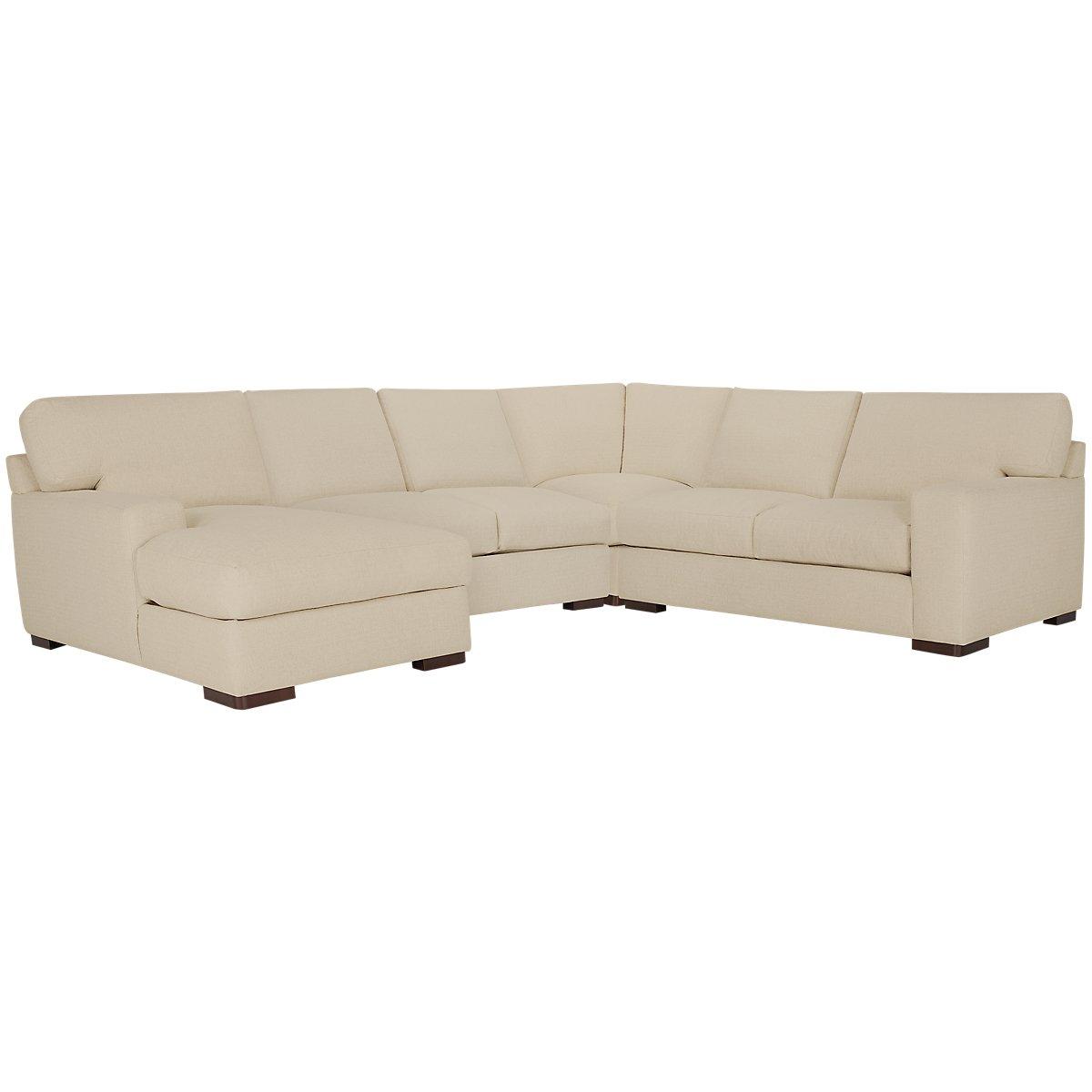 City furniture veronica khaki down medium left chaise for Chaise kaki