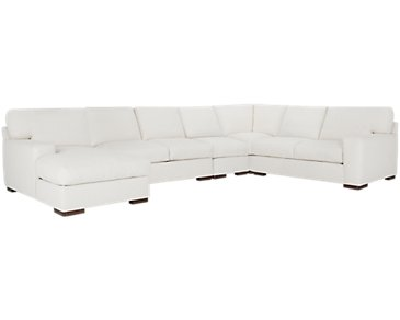 Veronica White Down Large Left Chaise Sectional